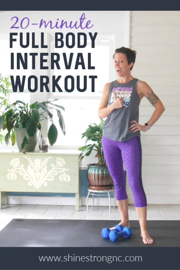 20-minute full body interval workout