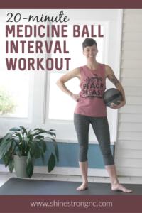20-minute medicine ball interval workout