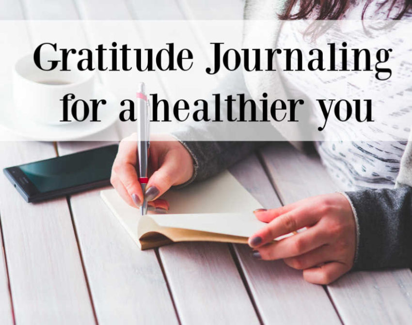 Gratitude journaling for a healthier you.